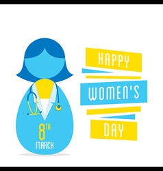 Happy womens day women doctor profession design vector