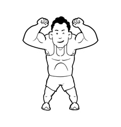 Weight lifting icon bodybuilding design vector