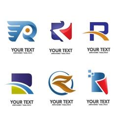 Alphabet letter R logo con vector image vector image