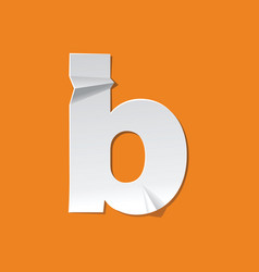 b lowercase letter fold english alphabet new vector image