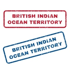 British indian ocean territory rubber stamps vector