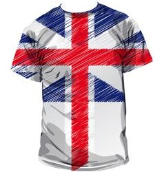 British tee vector image