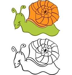 Cartoon Snail vector image vector image