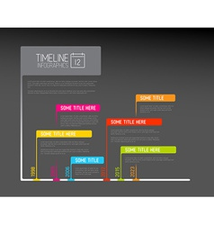 Colorful infographic timeline report template with vector