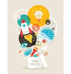 Creative idea think out of the box vector image vector image