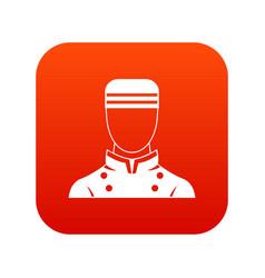 Doorman icon digital red vector