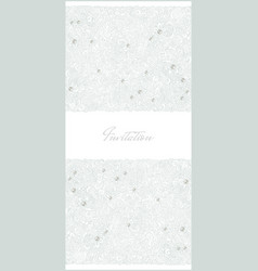 Floral vertical invitation card vector