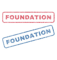 Foundation textile stamps vector