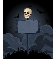 Halloween Sign vector image vector image