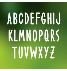 Hand drawn font type alphabet vector