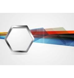 Hi-tech background with metal hexagon shape vector image