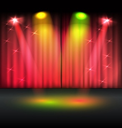 Illuminated stage template vector image vector image