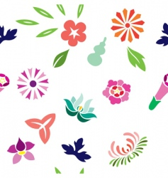 japanese spring pattern vector image vector image