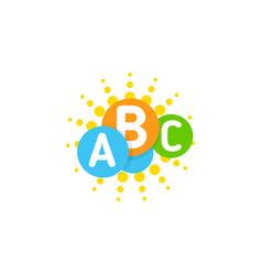 logo template with idea colorful brain sun vector image vector image