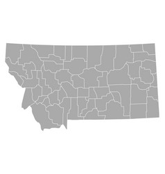 map of montana vector image