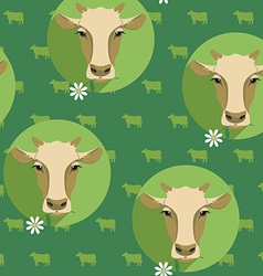 Modern flat design seamless of cow vector