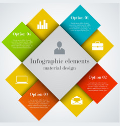 Modern infographic square elements vector