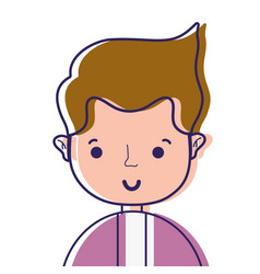 nice man with shirt and hairstyle design vector image