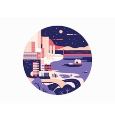 Night megapolis flat design vector image vector image