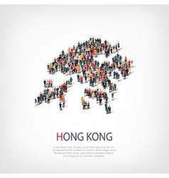 People map country hong kong vector
