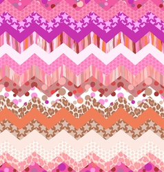 pink zigzag seamless vector image vector image