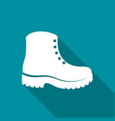Simple white boots icon vector