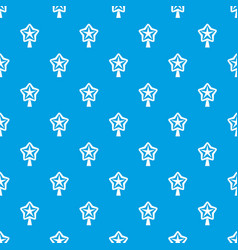 Star for christmass tree pattern seamless blue vector