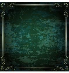 vintage frame on a green background vector image
