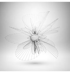 Wireframe mesh polygonal sphere vector