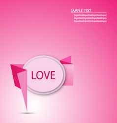 Origami paper message love graphic vector