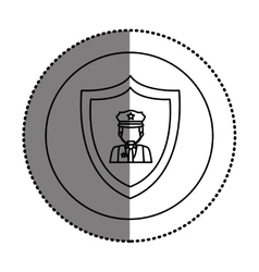 Isolated policeman design vector