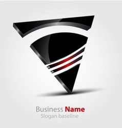 Abstract glossy 3d logo vector