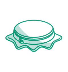 Embroidery drum isolated icon vector