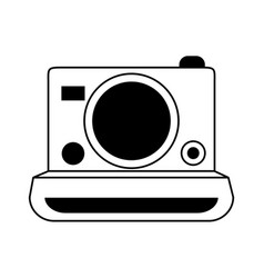 Instant photographic camera icon image vector