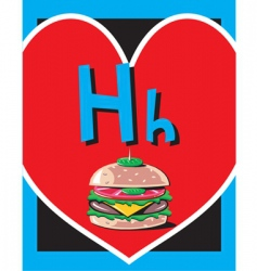 flash card h vector image