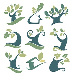Nature and tree vector