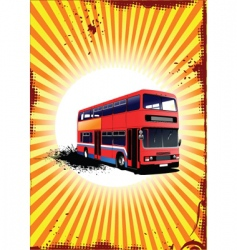 sunrise and bus vector image