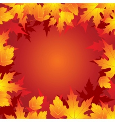 autumn leaves frame vector image