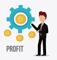 Profit business design vector