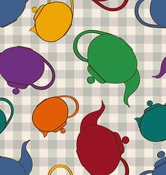 Seamless pattern of teapots vector