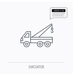 Evacuator icon evacuate parking transport sign vector