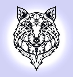 Wild wolf tattoo vector