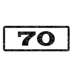 70 watermark stamp vector
