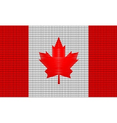 Canada flag embroidery design pattern vector