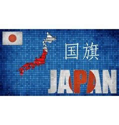 Japan map on a brick wall vector