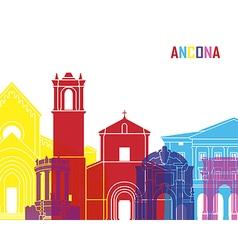 Ancona skyline pop vector image vector image