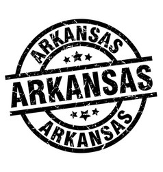 Arkansas black round grunge stamp vector