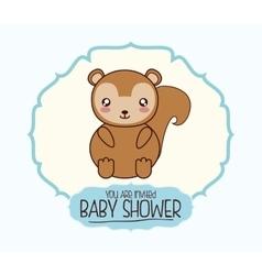 baby shower cartoon card design vector image