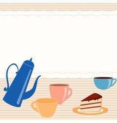 Card with tea related elements vector image vector image