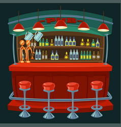 cartoon the interior of the pub vector image vector image